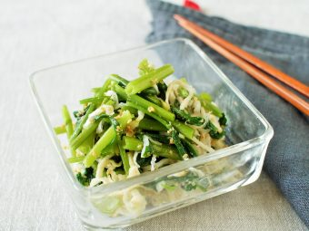 空芯菜と切干しダイコンのナムル
