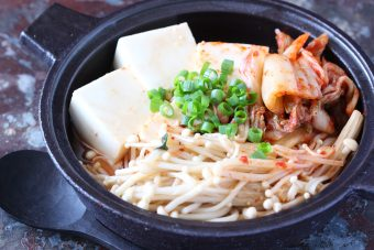 レンジで!豆腐とえのきのチゲ風