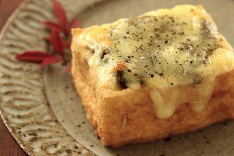 厚揚げの海苔チーズ焼き