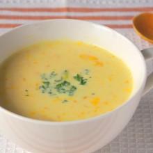 レンジで簡単!豆乳かぼちゃスープ