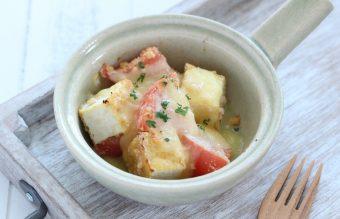 トマトと厚揚げのおからチーズ粉焼き