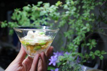 さっぱり梅風味!枝豆の山芋和え