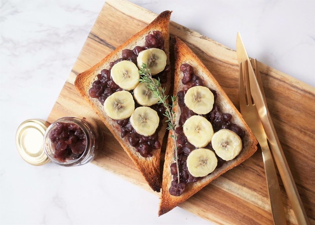 バナナ小倉トースト
