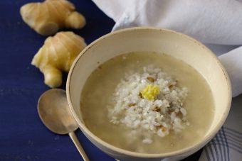 生姜と胡麻風味の中華粥
