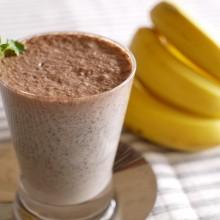 黒ごまとバナナの豆乳ココア