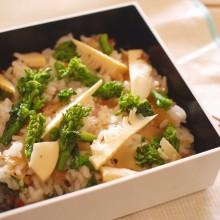 菜の花と筍のちらし寿司