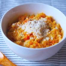 かぼちゃと豆乳のチーズリゾット風